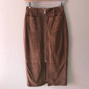 All Saints Arel Suede Skirt US Sizes: 0, 4